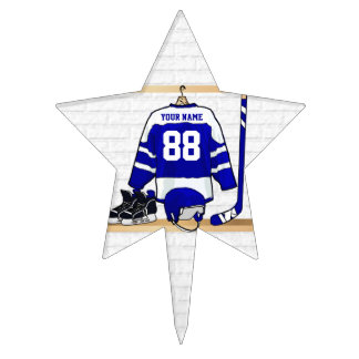 Personalized Ice Hockey Jersey Cake Pick