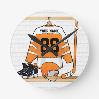 Personalized Ice Hockey Jersey Clocks