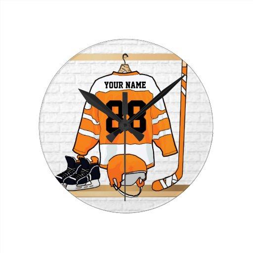 Personalized Ice Hockey Jersey Clocks