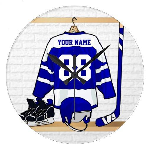 Personalized Ice Hockey Jersey Wall Clock