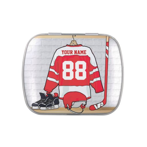 Personalized Ice Hockey Jersey Jelly Belly Tins