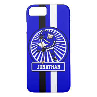 Personalized Ice Hockey Player Blue iPhone 8/7 Case