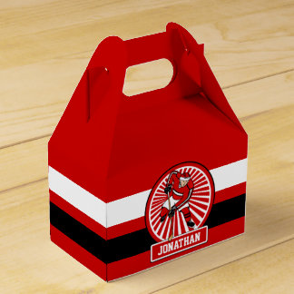 Personalized Ice Hockey player Favour Box
