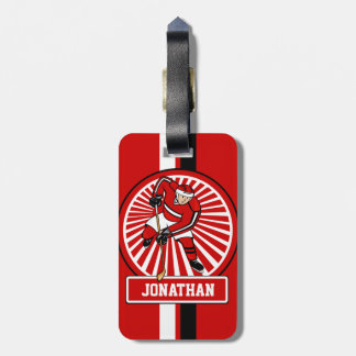 Personalized Ice Hockey player Luggage Tag