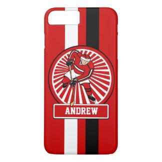 Personalized Ice Hockey Player RWB V2 iPhone 7 Plus Case