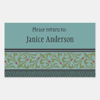Personalized ID Sticker Rectangular Sticker