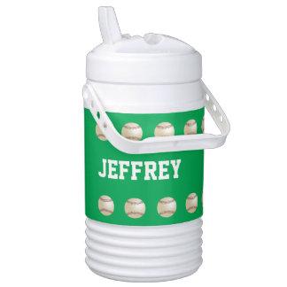 Personalized Igloo Beverage Cooler Baseball Green