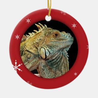 Personalized Iguana/Pet Photo Holiday Christmas Ornament