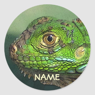 Personalized Iguana Sticker