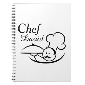 Personalized Illustrated Chef Notebook