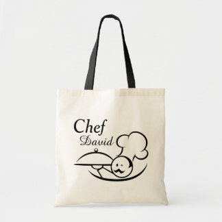 Personalized Illustrated Chef Tote Bag