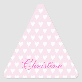 Personalized initial C girls name cute pink hearts Sticker
