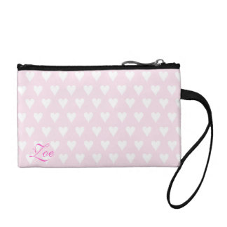 Personalized initial Z girls name pink hearts Coin Purse