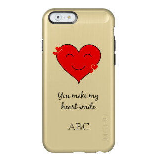 Personalized initials iphone 6/6s romantic heart incipio feather® shine iPhone 6 case