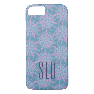 Personalized initials on star flower lace iPhone 8/7 case