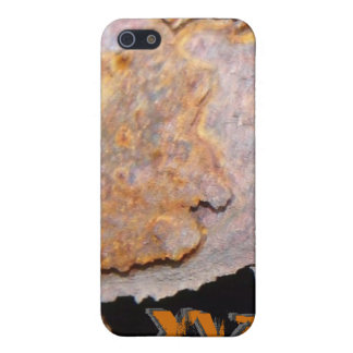 Personalized Initials Rusty Metal  Cover For iPhone 5/5S