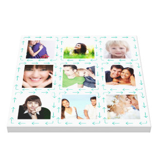 Personalized Instagram Photo Collage Stretched Canvas Print