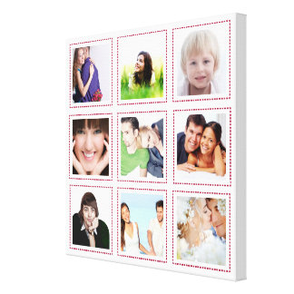 Personalized Instagram Photo Collage Gallery Wrap Canvas