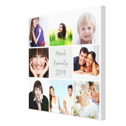 Personalized Instagram Photo Collage Gallery Wrapped Canvas