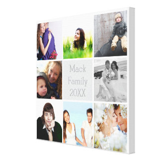 Personalized Instagram Photo Collage Stretched Canvas Prints