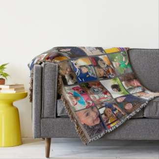 Personalized Instagram Photo Collage Throw Blanket