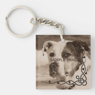 Personalized Instagram Photo | Create Your Own Double-Sided Square Acrylic Key Ring