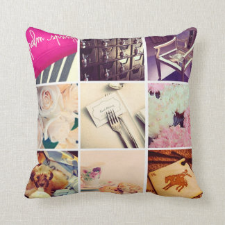Personalized Instagram Throw Pillow
