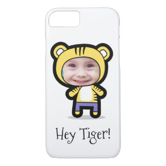 """Personalized iPhone 7 Case: Child Photo """"Tiger"""" iPhone 8/7 Case"""