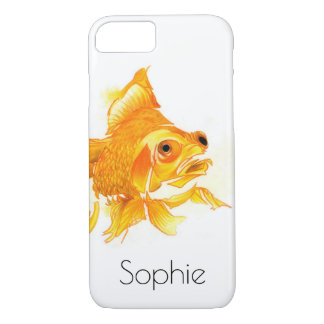 Personalized iPhone 7 Case: Goldfish Drawing iPhone 8/7 Case