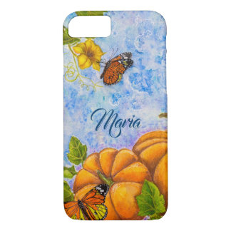Personalized iPhone Case with Butterfly & Pumpkins
