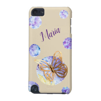 Personalized iPod Case with Butterfly and Dots