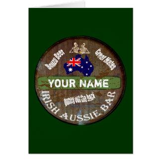 Personalized Irish Australian pub sign Cards