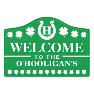 Personalized Irish Greeting Sign Door Sign