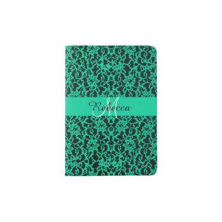 Personalized Irish Kelly Green Lace Passport Holder