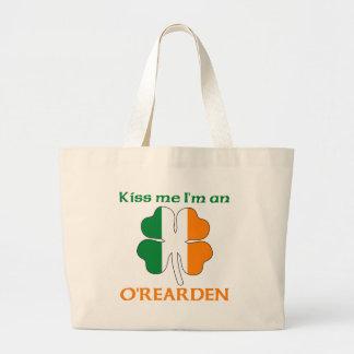 Personalized Irish Kiss Me I m O Rearden Canvas Bag