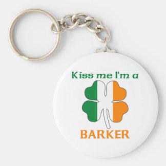 Personalized Irish Kiss Me I'm Barker Key Chain