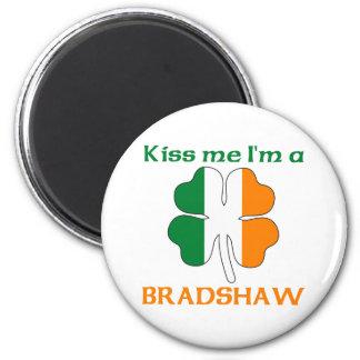 Personalized Irish Kiss Me I'm Bradshaw 6 Cm Round Magnet