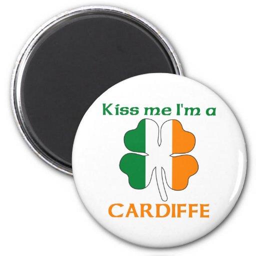 Personalized Irish Kiss Me I'm Cardiffe Magnets