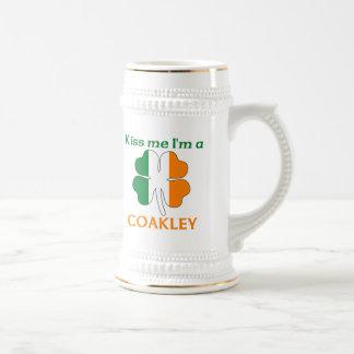 Personalized Irish Kiss Me I'm Coakley Coffee Mugs