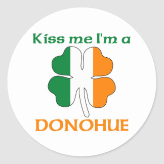 Personalized Irish Kiss Me I'm Donohue Round Sticker