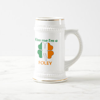 Personalized Irish Kiss Me I'm Foley Beer Steins