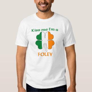 Personalized Irish Kiss Me I'm Foley Tees