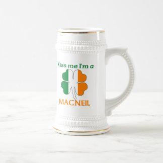 Personalized Irish Kiss Me I'm Macneil Beer Steins