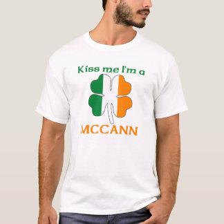 Personalized Irish Kiss Me I'm Mccann T-Shirt