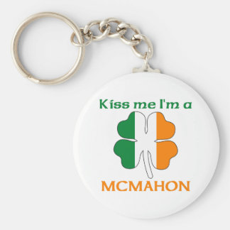 Personalized Irish Kiss Me I'm Mcmahon Key Ring