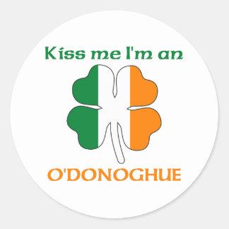 Personalized Irish Kiss Me I'm O'Donoghue Classic Round Sticker