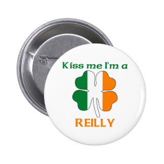 Personalized Irish Kiss Me I'm Reilly 6 Cm Round Badge