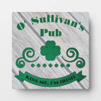 Personalized Irish Pub Bar Sign Plaque
