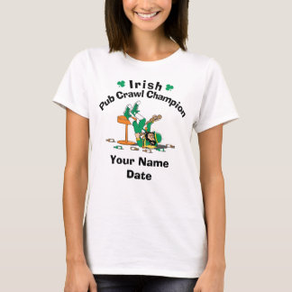 Personalized Irish Pub Crawl Champion T-Shirt