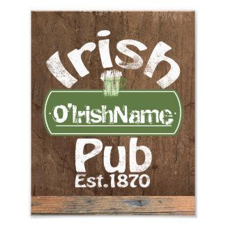 Personalized Irish Pub Old Keg Effect Sign